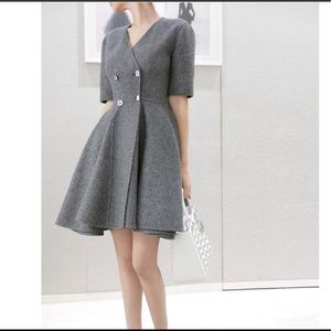 Christian Dior Wool Gray Dress